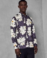 Ted Baker - Large Flower Print Cotton Shirt - Lyst