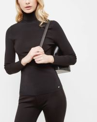 Ted Baker - Fitted Roll Neck Jumper - Lyst