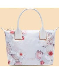 Ted Baker - Chelsea Grey Small Tote Bag - Lyst