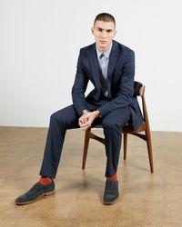 Ted Baker Leather Brogue Oxford Shoe - Blau