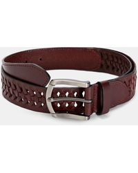 Ted Baker Leather Woven Belt - Red