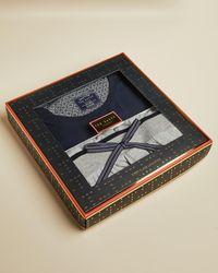 Ted Baker Cotton Pyjama Gift Set - Blue