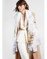 Ted Baker Vanilla Wide Scarf - White