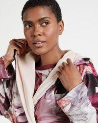 Ted Baker Clove Print Long Robe - Pink