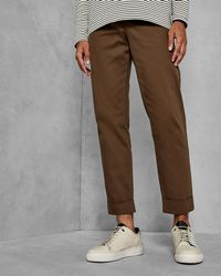Ted Baker - Cropped Fit Wide Leg Trousers - Lyst