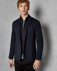 Ted Baker - 2-in-1 Herringbone Jersey Jacket - Lyst