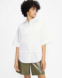 Ted Baker Camisa Oversize Manga Francesa - Blanco