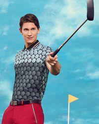 Ted Baker - Ombré Golf Ball Print Polo Shirt - Lyst