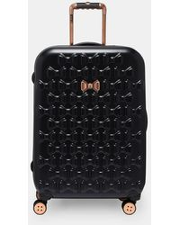 Ted Baker Bow Detail Large Suitcase - Black