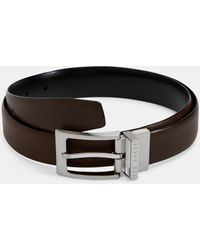 Ted Baker Reversible Leather Belt - Brown