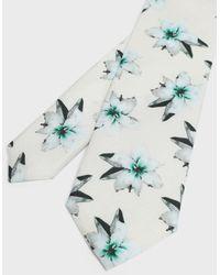 Ted Baker Corbata Seda Estampado Floral - Blanco