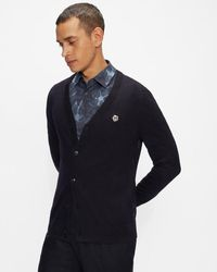 Ted Baker Ls Core Cardigan - Blue