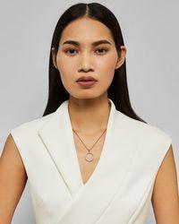 Ted Baker Lunar Circle Swarovski® Crystal Pendant - Metallic