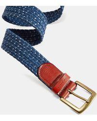 Ted Baker Leather Woven Belt - Multicolour