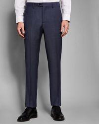 Ted Baker - Debonair Slim Birdseye Trousers - Lyst