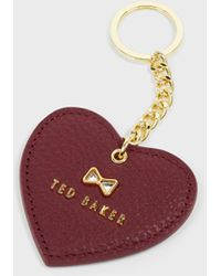 Ted Baker Crystal Bow Detail Heart Key Charm - Red
