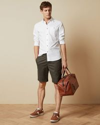 Ted Baker Cotton Chino Shorts - Multicolour
