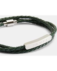 Ted Baker - Basser Triple Strand Logo Bar Wrap Bracelet - Lyst