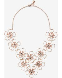 Ted Baker - Floral Cluster Necklace - Lyst