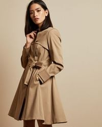 Ted Baker Cotton Fitted Mac Coat - Multicolour