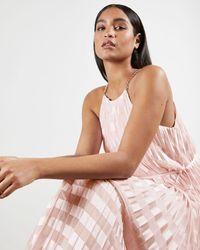 Ted Baker Pleated Maxi Dress - Pink