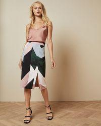 Ted Baker Sapphire Side Split Skirt - Multicolor