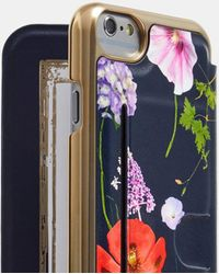 Ted Baker Hedgerow Iphone 6/7/8 Book Case - Blue
