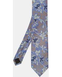 Ted Baker Floral Jacquard Tie - Blue