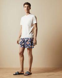 Ted Baker Floral Swim Shorts - Blue