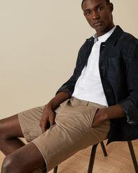 Ted Baker Cotton Chino Shorts - Natural