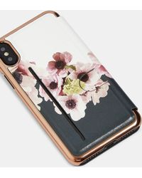 Ted Baker - Neapolitan Iphone Xs Max Book Case - Lyst