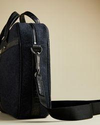 Ted Baker Wool Document Bag - Blue