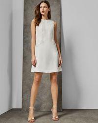 Ted Baker Sieera Lace Trim Sheath Dress - White
