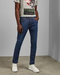 Ted Baker Mid Wash Tapered Jeans - Blue