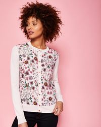 Ted Baker - Unity Floral Cardigan - Lyst