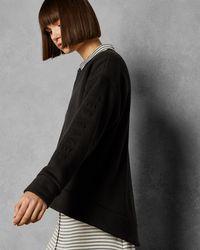 0c60b1ed06f27 Ted Baker Secret Trellis Collar Sweater in White - Lyst