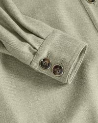 Ted Baker Long Oversized Wool Shacket - Green