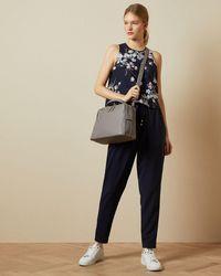 Ted Baker Pergola Printed Mockable Jumpsuit - Azul