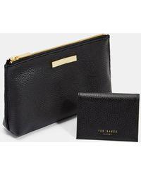 Ted Baker - Leather Wash Bag And Cardholder - Lyst