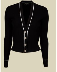 Ted Baker Ribbed Knitted Cardigan - Black