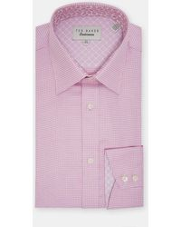 Ted Baker - Twill Pattern Cotton Shirt - Lyst