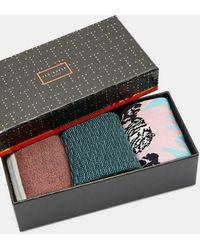 Ted Baker - Set Cadeaux De 3 Paires De Chaussettes - Lyst