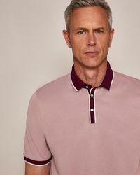 Ted Baker - T For Tall Howltt Short Sleeve Polo Shirt - Lyst