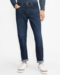 Ted Baker Straight Leg Mid Wash Jean - Blue