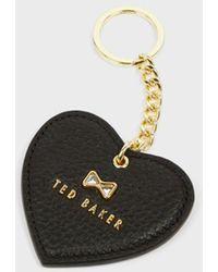 Ted Baker Crystal Bow Detail Heart Key Charm - Black