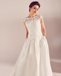 Ted Baker - Embroidered Applique Bodice Wedding Dress - Lyst