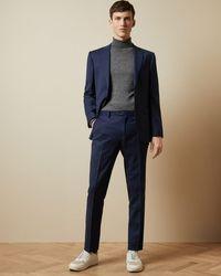 Ted Baker Endurance Two-piece Birdseye Wool Suit - Azul