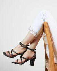 Ted Baker Applique Hem Detail Skinny Jean - White
