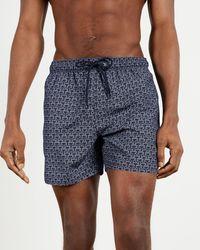 Ted Baker All Over T Printed Swimshort - Blue