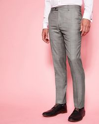 Ted Baker - Debonair Wool Suit Trousers - Lyst
